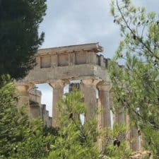 AEGINA images - Aphia Temple from the roadside