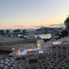 AEGINA images - dinner time with sunset