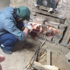 5_Firing anagama kiln